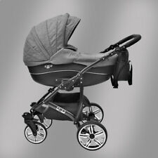 CLEO Luxus Kombi Kinderwagen 3in1 & 4in1 (+Isofix) mit Babyschale und Sportsitz