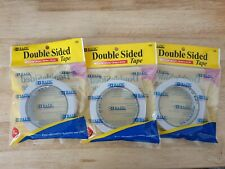 """New listing Brand New 3 Packet Bazic 1"""" x 20 Yard Double Sided Tape"""