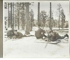 NN-007 - WWII Soldiers Machine Gun Training Photograph Original Vintage