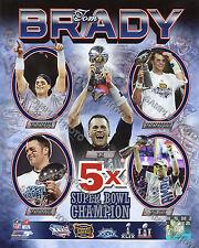 Tom Brady 5 Time Super Bowl Champion New England Patriots 8x10 Photo Free Ship
