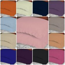 2X Luxury Frilled Pillowcases Plain Dyed Oxford Frilly Edge Bedroom Pillow Cover