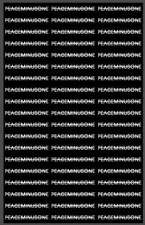 KPOP BIGBAGN GD PEACEMINUSONE Letters STICKERS Fashion PAPER