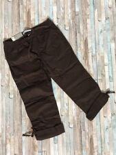 NWT Old Navy Convertible Pant Capri Low Rise Straight Leg Sz Medium (8/10) Brown