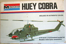 Monogram Huey Cobra 1/72 scale Helicopter kit started 5000-0103