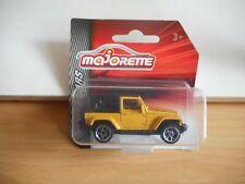 Majorette Jeep Wrangler in Yellow on Blister