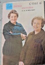 Original 1960s Vintage Knitting pattern-Ladies large size cable jumpers C-1161
