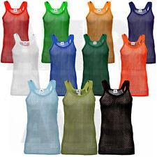 Mens Kids AMIR RETRO String Vest RASTA Gym Tank Top Premium HOLIDAYS 100% Cotton