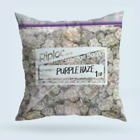 Purple Haze 1 Pound weed ziploc bag Pillow case Funny marijuana cannabis stoner