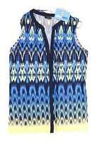 M&Co Womens Size 12 Geometric Blue Top (Regular)