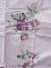One lined door curtain  lilac floral flowers green leaves brand new