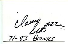 Clarence Scott 1970s Cleveland Browns Kansas State Wildcats Signed Autograph