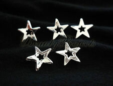 5pcs silver star charm nail art charms for acrylics, gel designs & decorations