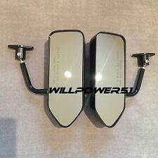 F1 style ABS racing side FENDER mirrors Evo 5 8 Impreza WRX sti Legacy Forester