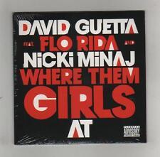DAVID GUETTA  Feat.FLO RIDA & MINAJ - WHERE THEM GIRLS AT - CDS  DIGIPACK - MINT