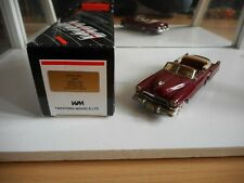 Western Models 1949 Cadillac Series 62 Convertible in Red on 1:43 in Box