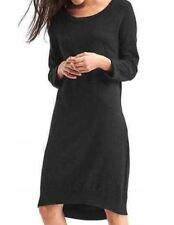 NWT Gap Medium 8 10 Black Relaxed Midi Sweater Dress Soft Knit Shift Dress M $70