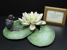 Royal Worcester Dorothy Doughty MOORHEN CHICK & WATER LILY Porcelain Figurine