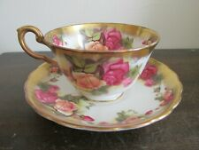 Royal Chelsea England Bone China Tea Cup And Saucer Golden Rose