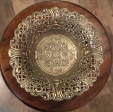 Vintage Brass Open Lace Edge Trinket Bowl C.T. 6 -Made in Italy