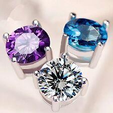 High Quality Titanium Shining Crystal Stone Lady's Charming Stud Earrings