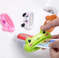 1Pcs Cute Animal Bathroom Rolling Tube Plastic Toothpaste Squeezer Dispenser