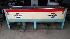 Vintage Pepsi Cola Soda S&S Products Jumbo Reach In Drink Cooler Refrigerator