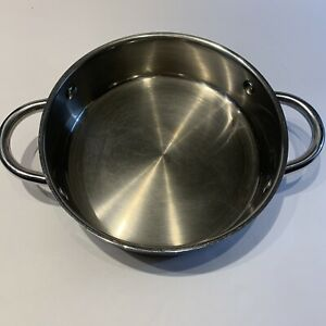 """Wolfgang Puck Cafe Collection 18-10 Stainless Steel 10"""" Casserole Pan No Lid"""