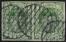 AD SACHSEN 1851; 2 x MiNr. 2 II a ; 3 Pf.; aktueller BPP BEFUND; KRS