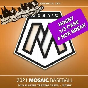 ATLANTA BRAVES 2021 MOSAIC BASEBALL HOBBY 1/3 CASE 4 BOX BREAK #5