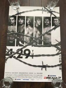DREAM 2 MMA Poster, Pride, Rizin, UFC, Bellator, MMA