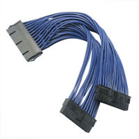 ATX 24Pin 1 to 2 port Power Supply Extension cable PSU Male to Female Y Splitter