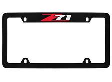Chevrolet Z71 Black Coated Metal Top Engraved License Plate Frame Holder