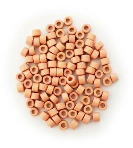 Ceramic tubes Salmon Pink 0 1/4in 100 Piece Ceramics beads Ceramic Beads