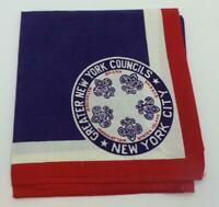 BSA Vintage Neckerchief New York City Greater New York Councils Red White Blue