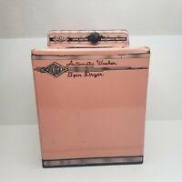 Vintage Wolverine Kitchen Pink Metal Washing Machine Damaged Missing Top Lid