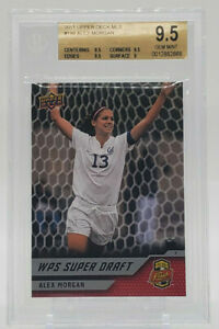 2011 Upper Deck MLS #198 Alex Morgan Rc Rookie BGS 9.5 Gem Mint (68)
