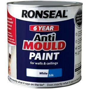 Ronseal 6 Year Anti Mould Paint  Walls Ceilings Kitchen Bathroom Basement Damp