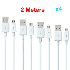 4x2M Micro USB Charger Charging Sync Data Cable For Samsung Galaxy S4 S5 S6 EDGE