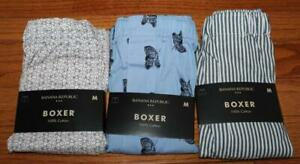 THREE (3) NEW NWT Mens Banana Republic Boxers Boxer Shorts Underwear MEDIUM *1K