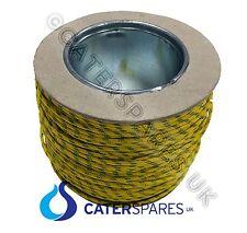 Rollo de 100 metros resistente al calor de alta temperatura Amarillo/Verde 2.5MM Cable de tierra