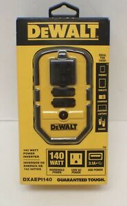 DEWALT DXAEPI140 120V Dual USB Ports Power Socket Inverter ✅‼️🌟