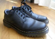 Dr. Martens Ashfeld Mens 7 Womens 8 Black Pebbled Leather Casual Oxford Shoes