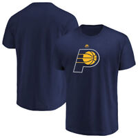 Indiana Pacers Mens Blue Majestic Logo 2 Short Sleeve T Shirt