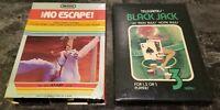 (2) Atari 2600 Boxed Game Lot CIB Lot #10