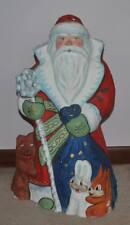 "Vintage Russian Soviet Santa Claus 20.5"" Store Display Paper Mache"