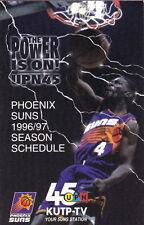 1996-97 PHOENIX SUNS BASKETBALL POCKET SCHEDULE - KUTP-TV 45 UPN