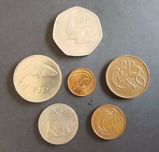 Set Of 6 old Irish Coins minted in 1982 1/2p 1p 2p 5p 10p 50p