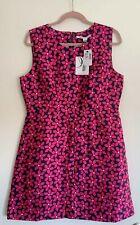 Diane von Furstenberg DVF Capreena in Floral Check Rose Mini Dress Size 14 - NEW
