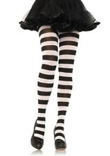 669292e3323af Wide Striped Tights 7110 Leg Avenue Black/white One Size Fits All