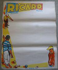 ANCIENNE AFFICHE PUBLICITAIRE RICARD , EN PAPIER , SIGNEE G.POTIER *